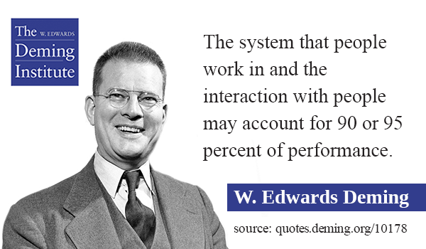 the system that people work in and the interaction with people may ...
